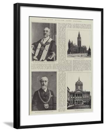 The New English Lord Mayors--Framed Giclee Print
