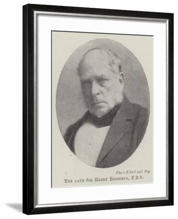 The Late Sir Henry Bessemer--Framed Giclee Print