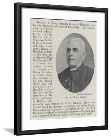 The Late Bishop Staley--Framed Giclee Print