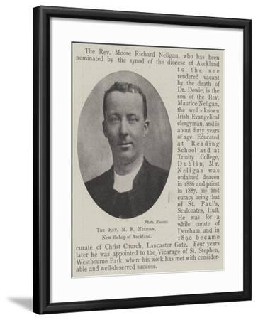 The Reverend M R Neligan, New Bishop of Auckland--Framed Giclee Print
