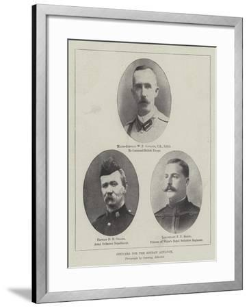 Officers for the Soudan Advance--Framed Giclee Print