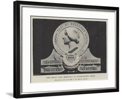 The Jenny Lind Memorial in Westminster Abbey--Framed Giclee Print