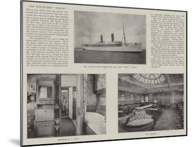 The Steam-Ship Saxon--Mounted Giclee Print