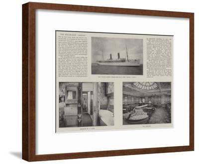 The Steam-Ship Saxon--Framed Giclee Print
