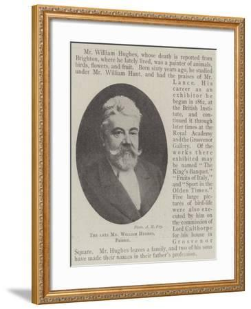 The Late Mr William Hughes, Painter--Framed Giclee Print