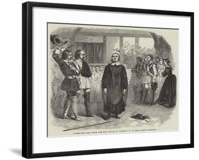 Scene the Last, from the New Drama of Sixtus V, at the Olympic Theatre--Framed Giclee Print