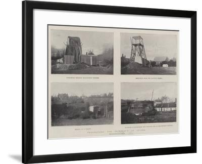 Prospecting for Petroleum in Sussex--Framed Giclee Print