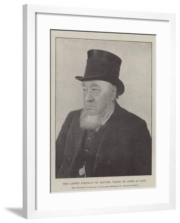 The Latest Portrait of Kruger--Framed Giclee Print