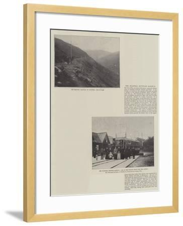 The Snaefell Mountain Railway--Framed Giclee Print