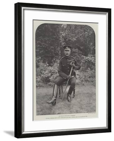 The Duke of Connaught at Aldershot--Framed Giclee Print