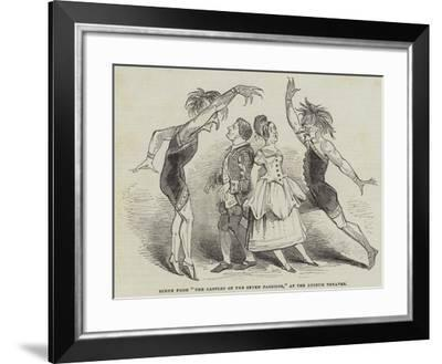 Scene from The Castles of the Seven Passions, at the Lyceum Theatre--Framed Giclee Print