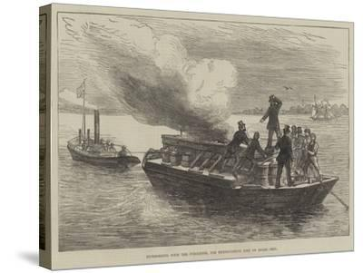 Experiments with the Pyroleter, for Extinguishing Fire on Board Ship--Stretched Canvas Print