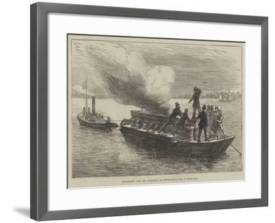 Experiments with the Pyroleter, for Extinguishing Fire on Board Ship--Framed Giclee Print