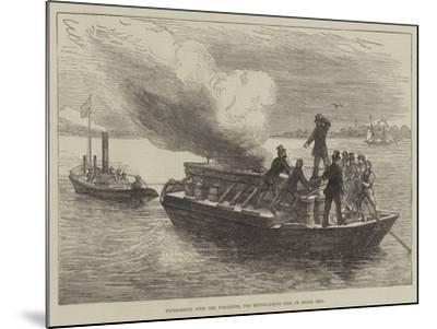 Experiments with the Pyroleter, for Extinguishing Fire on Board Ship--Mounted Giclee Print