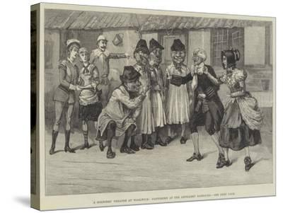 A Soldiers' Theatre at Woolwich, Pantomime at the Artillery Barracks--Stretched Canvas Print
