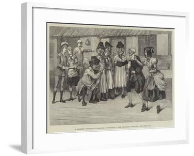 A Soldiers' Theatre at Woolwich, Pantomime at the Artillery Barracks--Framed Giclee Print