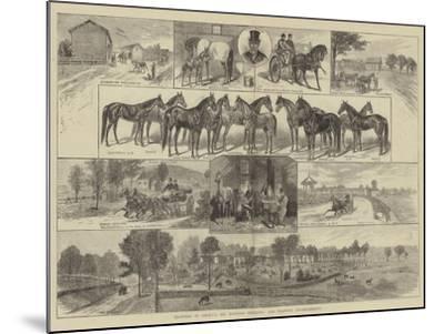 Trotting in America, Mr Bonner's Breeding and Training Establishment--Mounted Giclee Print