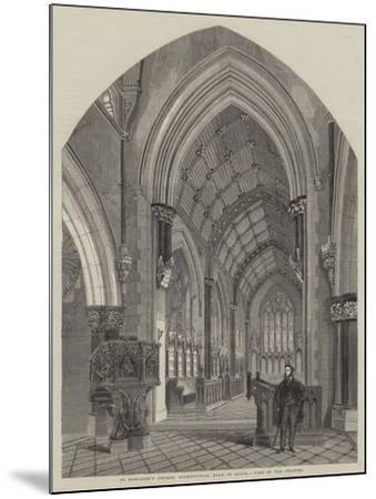 St Margaret's Church, Bodelwyddan, Near St Asaph, View of the Chancel--Mounted Giclee Print