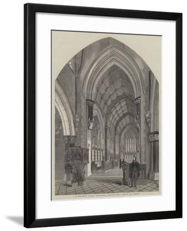 St Margaret's Church, Bodelwyddan, Near St Asaph, View of the Chancel--Framed Giclee Print