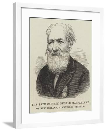 The Late Captain Dugald Macfarlane, of New Zealand, a Waterloo Veteran--Framed Giclee Print