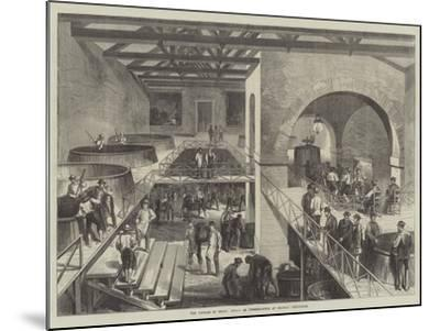 The Vintage of Medoc, Cuvier or Pressing-House at Chateau D'Estournel--Mounted Giclee Print