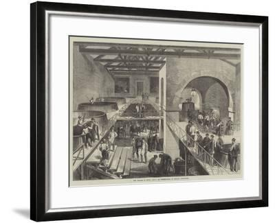 The Vintage of Medoc, Cuvier or Pressing-House at Chateau D'Estournel--Framed Giclee Print
