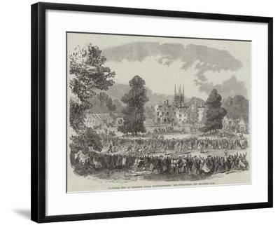 Volunteer Fete at Conington Castle, Huntingdonshire, the Hurdle-Race--Framed Giclee Print