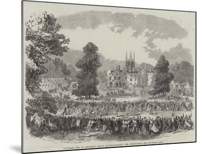 Volunteer Fete at Conington Castle, Huntingdonshire, the Hurdle-Race--Mounted Giclee Print