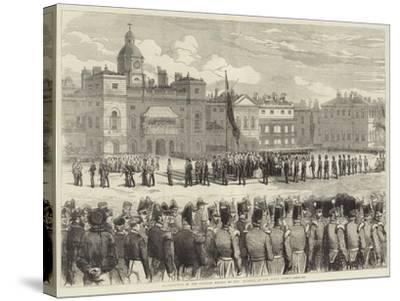 Distribution of the Crimean Medals by Her Majesty, at the Horse Guards--Stretched Canvas Print