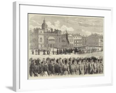 Distribution of the Crimean Medals by Her Majesty, at the Horse Guards--Framed Giclee Print