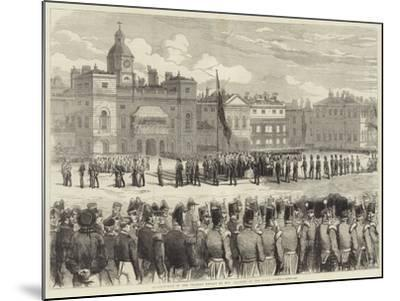 Distribution of the Crimean Medals by Her Majesty, at the Horse Guards--Mounted Giclee Print