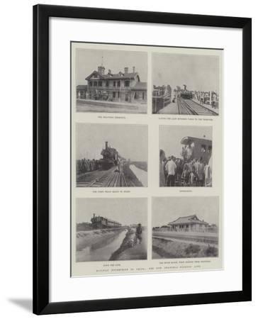 Railway Enterprise in China, the New Shanghai-Woosung Line--Framed Giclee Print