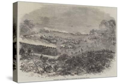 Field-Day and Sham Fight of Volunteers on Hampstead Heath--Stretched Canvas Print