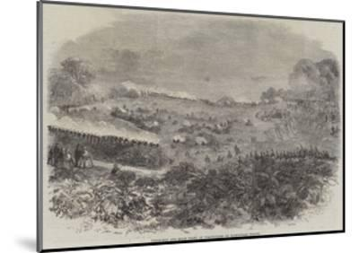 Field-Day and Sham Fight of Volunteers on Hampstead Heath--Mounted Giclee Print
