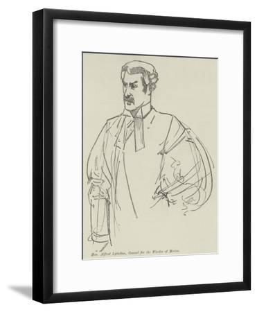 Honourable Alfred Lyttelton, Counsel for the Warden of Merton--Framed Giclee Print