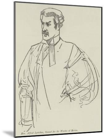 Honourable Alfred Lyttelton, Counsel for the Warden of Merton--Mounted Giclee Print