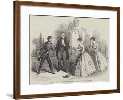 Scene from Rose Et Marguerite, at the St James's Theatre--Framed Giclee Print
