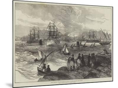 HMS Serapis, with the Prince of Wales on Board, Leaving the Piraeus--Mounted Giclee Print