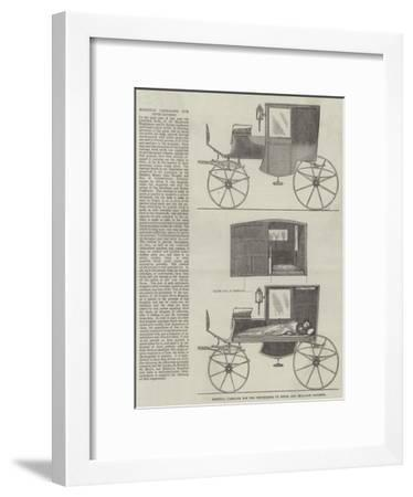Hospital Carriage for the Conveyance of Fever and Smallpox Patients--Framed Giclee Print