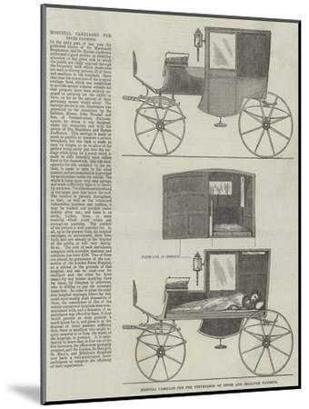 Hospital Carriage for the Conveyance of Fever and Smallpox Patients--Mounted Giclee Print
