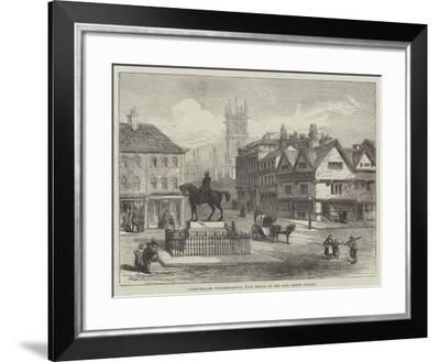 Queen-Square, Wolverhampton, with Statue of the Late Prince Consort--Framed Giclee Print