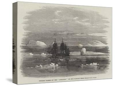 Iceberg Passed by the Anglesey on Her Passage from Melbourne Home--Stretched Canvas Print