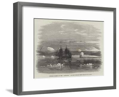 Iceberg Passed by the Anglesey on Her Passage from Melbourne Home--Framed Giclee Print