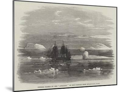 Iceberg Passed by the Anglesey on Her Passage from Melbourne Home--Mounted Giclee Print