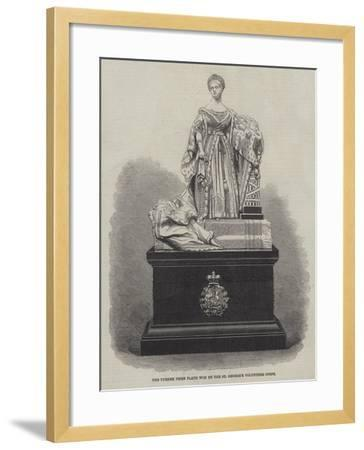 The Turner Prize Plate Won by the St George's Volunteer Corps--Framed Giclee Print