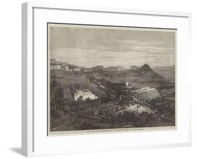 Naval Docks Being Constructed for the Italian Government at Spezia--Framed Giclee Print