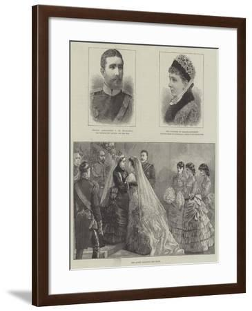 Royal Wedding of Princess Beatrice and Prince Henry of Battenberg--Framed Giclee Print