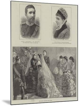 Royal Wedding of Princess Beatrice and Prince Henry of Battenberg--Mounted Giclee Print