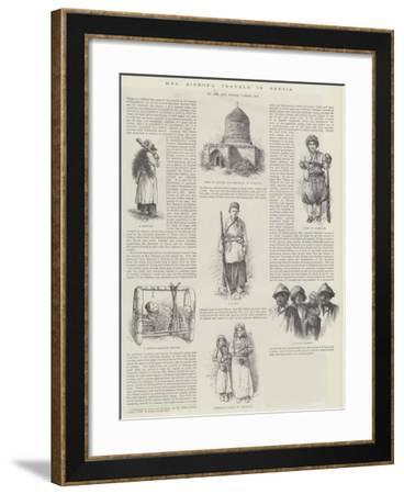 Mrs Bishop's Travels in Persia, by the Honourable George Curzon--Framed Giclee Print