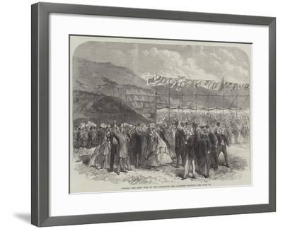 Cutting the First Turf of the Carnarvon and Llanberis Railway--Framed Giclee Print
